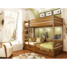 Двоярусне дерев'яне ліжко ДУЕТ - (Масив)