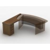 Приставний стіл з тумбою з файловою шухлядою 23СТ43L