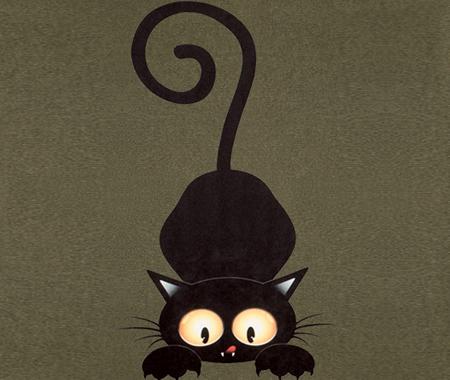 Тканина HAPPY ANIMALS : Cat grey