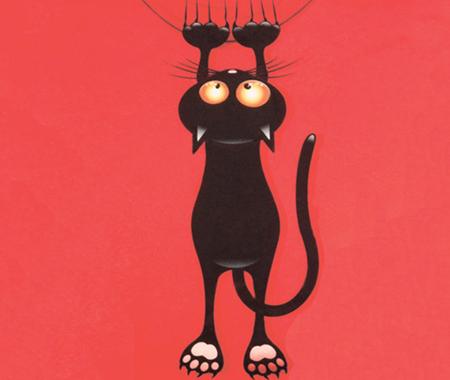 Тканина HAPPY ANIMALS : Cat red
